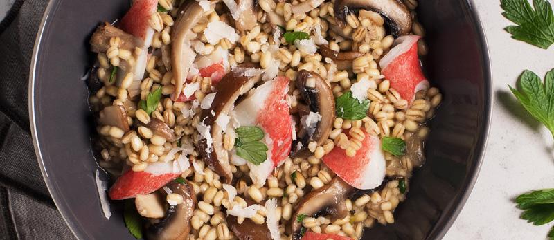 Simply-Surimi-Barley-Mushroom-Risotto
